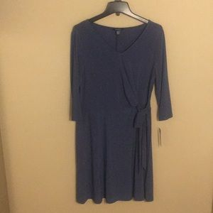 Chaps dress size L. Country Blue. Never worn!!